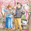 【WEB漫画】『打ち切り漫画家(28歳)、パパになる』(富士屋カツヒト)のカラー扉イラスト集が綺麗だから見るといいと思うよ!