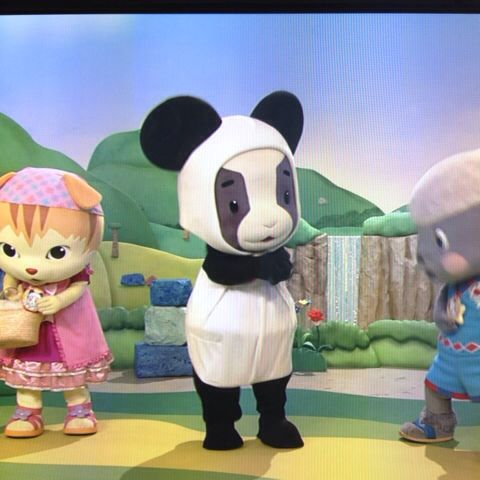 日記おかあさんといっしょのメーコブのパンダ姿 育児漫画目録